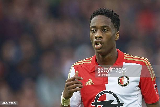 Terence Kongolo of Feyenoord during the Dutch Eredivisie match between Feyenoord Rotterdam and Ajax Amsterdam at the Kuip on November 8 2015 in...