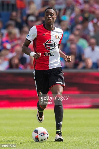 Terence Kongolo of Feyenoord during the Dutch Eredivisie match between Feyenoord and FC Twente at stadium Feyenoord De Kuip on august 14 2016 in...