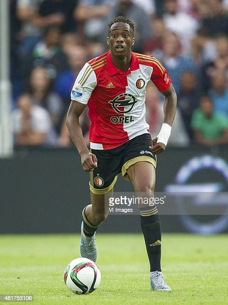 Terence Kongolo of Feyenoord during the preseason friendly match between Feyenoord and Southampton FC on July 23 2015 at the Kuip stadium in...
