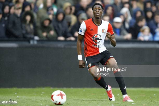 Terence Kongolo of Feyenoord Rotterdamduring the Dutch Eredivisie match between Feyenoord Rotterdam and FC Utrecht at the Kuip on April 16 2017 in...