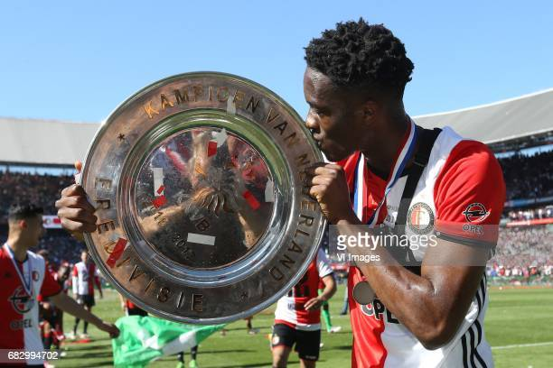 Terence Kongolo of Feyenoordduring the Dutch Eredivisie match between Feyenoord Rotterdam and Heracles Almelo at the Kuip on May 14 2017 in Rotterdam...