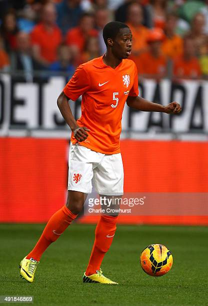 Terence Kongolo of Holland attacks during the International Friendly match between The Netherlands and Ecuador at The Amsterdam Arena on May 17 2014...