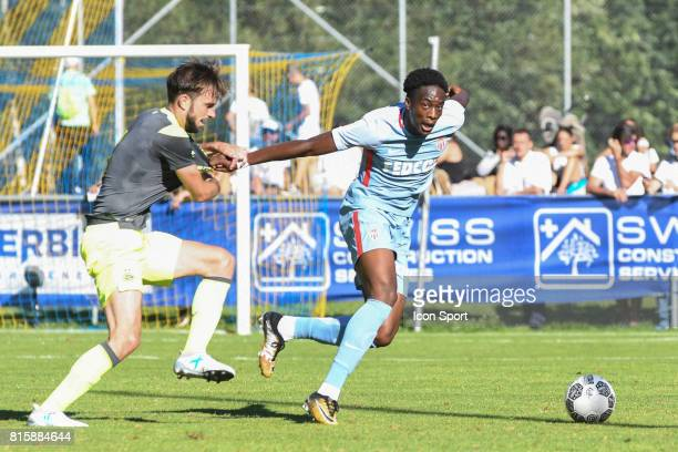 Terence Kongolo of Monaco during the friendly match between As Monaco and PSV Eindhoven on July 16 2017 in Le Chable Switzerland