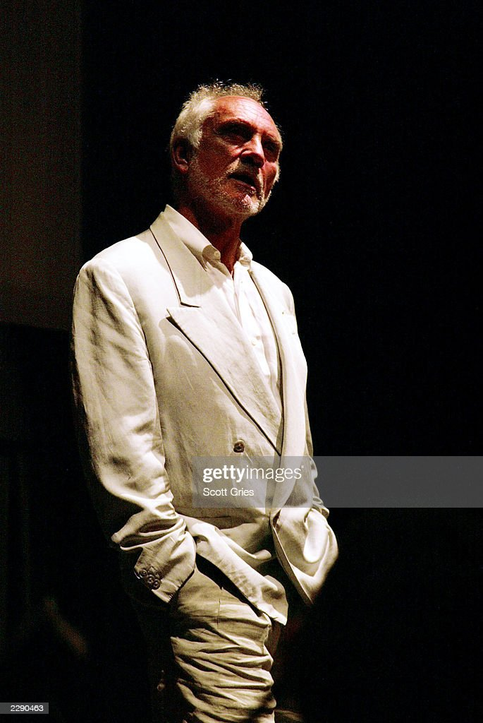 Terence Stamp speaks before a special screening of 'Poor Cow' at the BAM Rose Cinemes in Brooklyn, New York. 8/2/02 Photo by Scott Gries/Getty Images