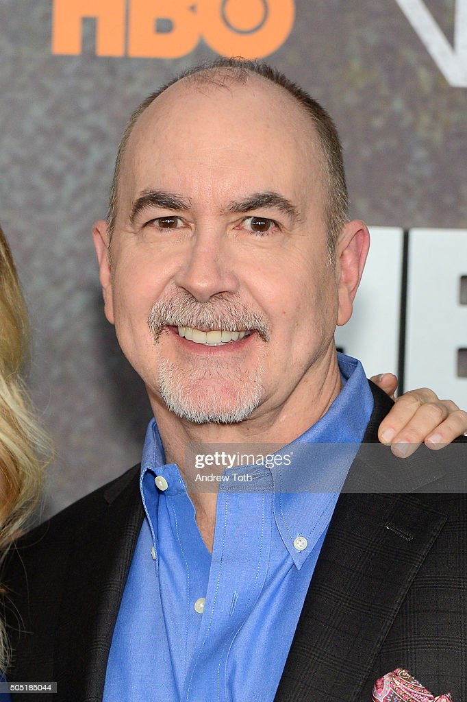 Terence Winter attends the 'Vinyl' New York premiere at Ziegfeld Theatre on January 15, 2016 in New York City.