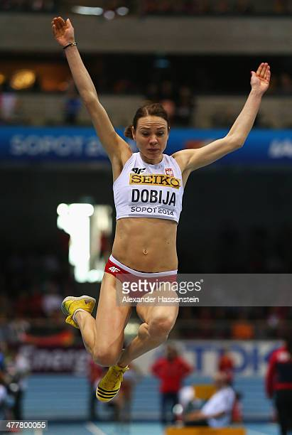 Teresa Dobija of Poland competes in the Women's Long Jump Final during day three of the IAAF World Indoor Championships at Ergo Arena on March 9 2014...