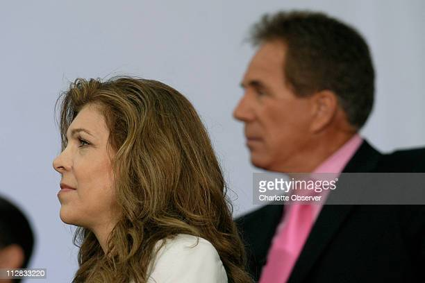 Teresa Earnhardt and Darrell Waltrip attend the opening ceremonies of the NASCAR Hall of Fame held in Charlotte North Carolina Tuesday May 11 2010
