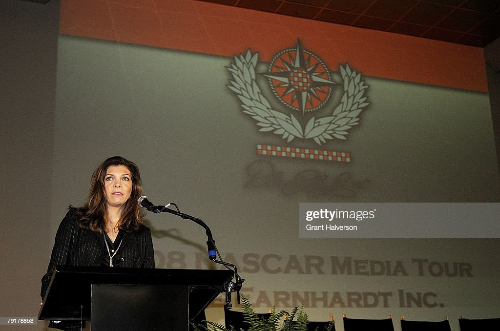 Teresa Earnhardt speaks during a media event at Dale Earnhardt, Inc. on January 23, 2007 in Mooresville, North Carolina.