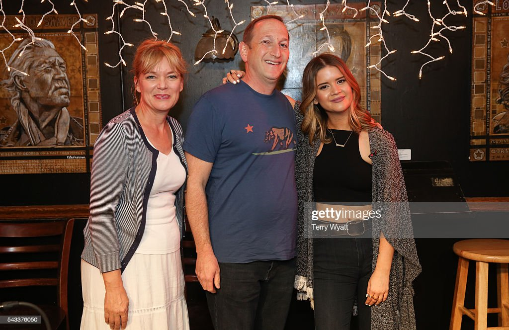 Teresa George,ACM Lifting Lives President Ed Warm and Maren Morris attend the ACM Lifting Lives Music Camp at the Bluebird Cafe on June 27, 2016 in Nashville, Tennessee.