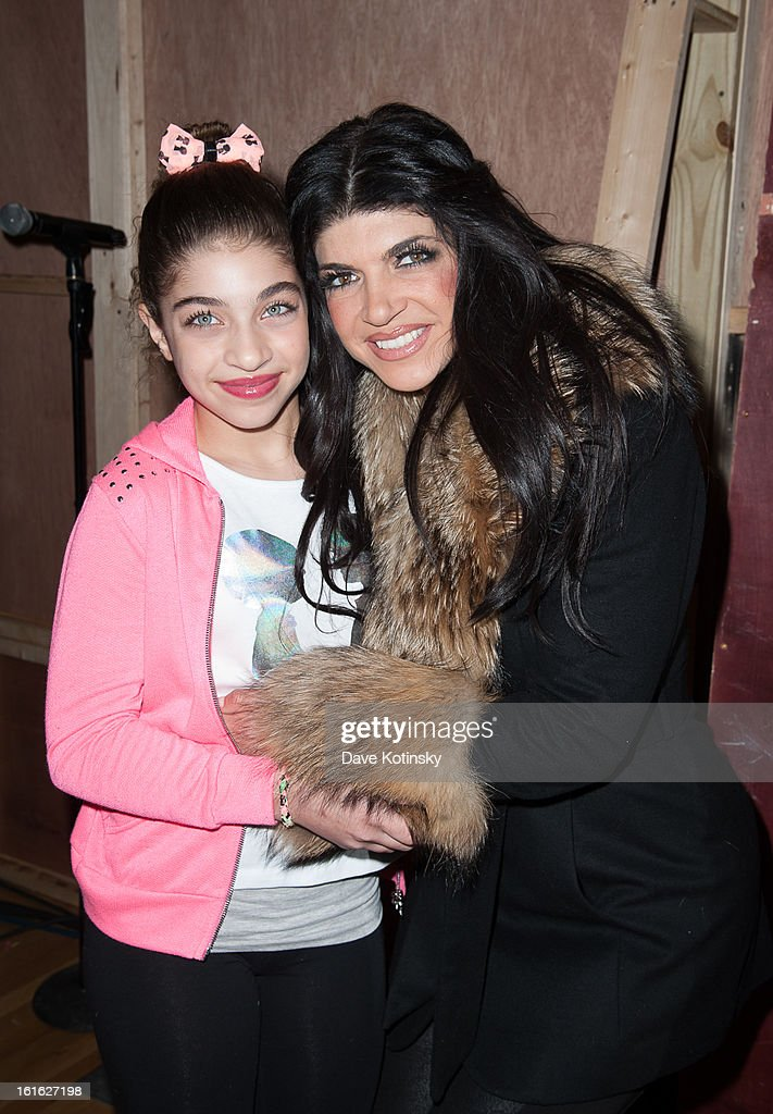<a gi-track='captionPersonalityLinkClicked' href=/galleries/search?phrase=Teresa+Giudice&family=editorial&specificpeople=5912953 ng-click='$event.stopPropagation()'>Teresa Giudice</a> (R) and Gia Giudice attend the Boy Meets Girl By Stacy Igel 2013 Style360 Fashion Show at Style360 on February 13, 2013 in New York City.