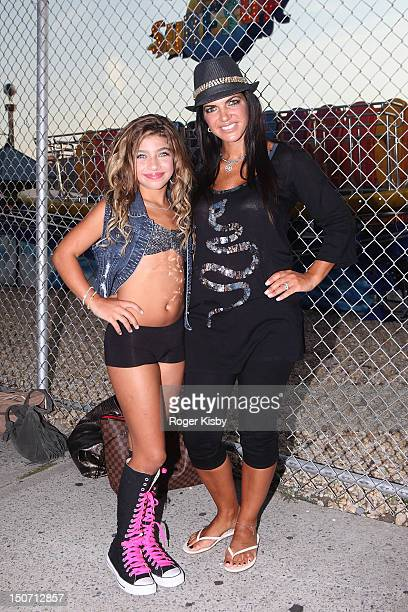 Teresa Giudice and her daughter Gia Giudice attend the Z100 End Of Summer Concert at Luna Park on August 24 2012 in the Brooklyn borough of New York...