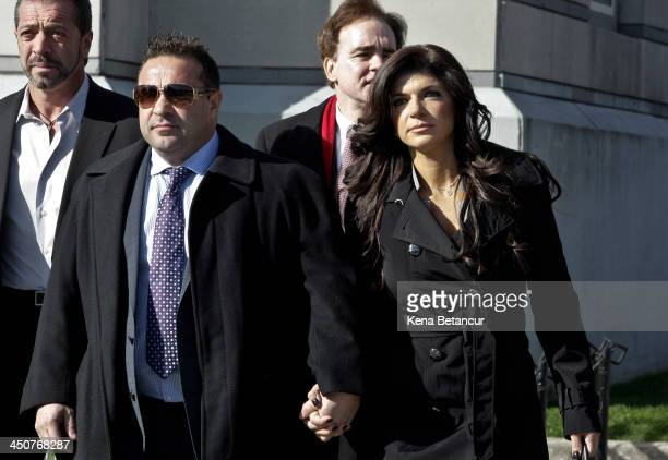 Teresa Giudice and her husband Giuseppe 'Joe' Giudice leave Newark federal court on November 20 2013 in Newark New Jersey The two of the stars of the...