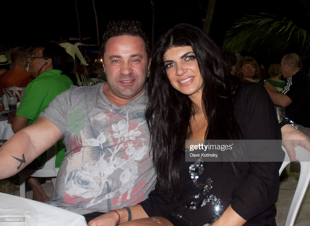 Teresa Giudice and Joe Giudice at the Majestic Resort in Punta Cana on March 3, 2013 in UNSPECIFIED, Dominican Republic.