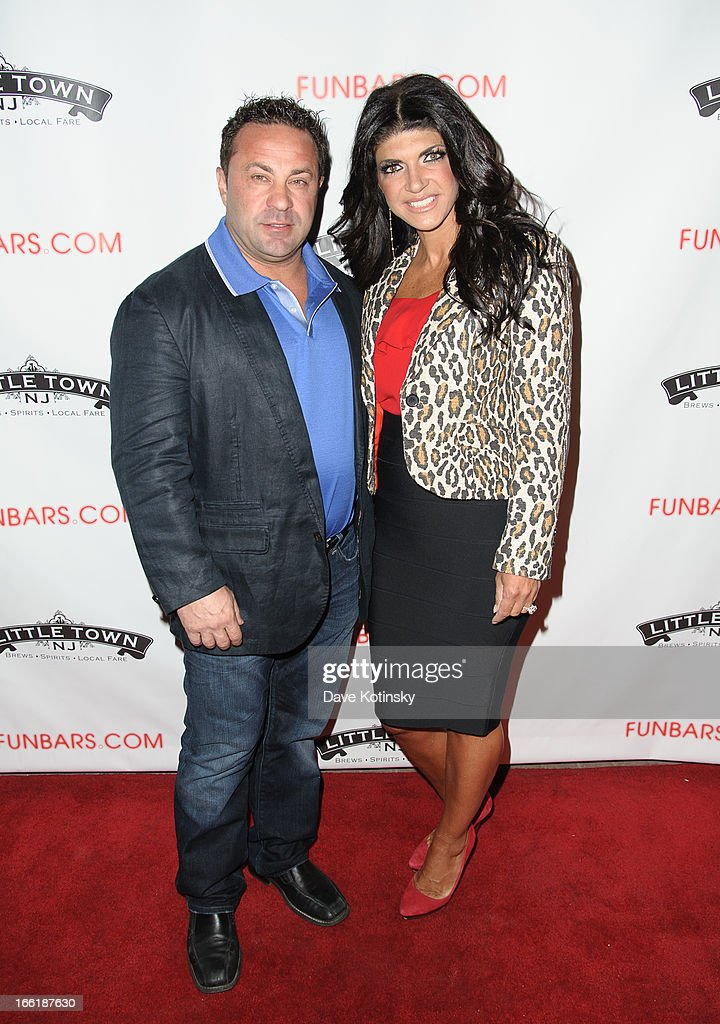 <a gi-track='captionPersonalityLinkClicked' href=/galleries/search?phrase=Teresa+Giudice&family=editorial&specificpeople=5912953 ng-click='$event.stopPropagation()'>Teresa Giudice</a> and <a gi-track='captionPersonalityLinkClicked' href=/galleries/search?phrase=Joe+Giudice&family=editorial&specificpeople=5978109 ng-click='$event.stopPropagation()'>Joe Giudice</a> attend 'Little Town NJ' Restaurant Opening Hosted By The Manzo Brothers at Little Town NJ Restaurant on April 9, 2013 in Hoboken, New Jersey.