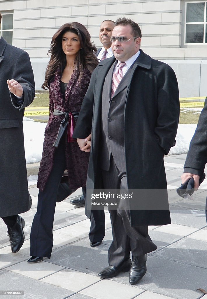 <a gi-track='captionPersonalityLinkClicked' href=/galleries/search?phrase=Teresa+Giudice&family=editorial&specificpeople=5912953 ng-click='$event.stopPropagation()'>Teresa Giudice</a> (L) and <a gi-track='captionPersonalityLinkClicked' href=/galleries/search?phrase=Joe+Giudice&family=editorial&specificpeople=5978109 ng-click='$event.stopPropagation()'>Joe Giudice</a> leave court after facing charges of defrauding lenders, illegally obtaining mortgages and other loans as well as allegedly hiding assets and income during a bankruptcy case on March 4, 2014 in Newark, United States.