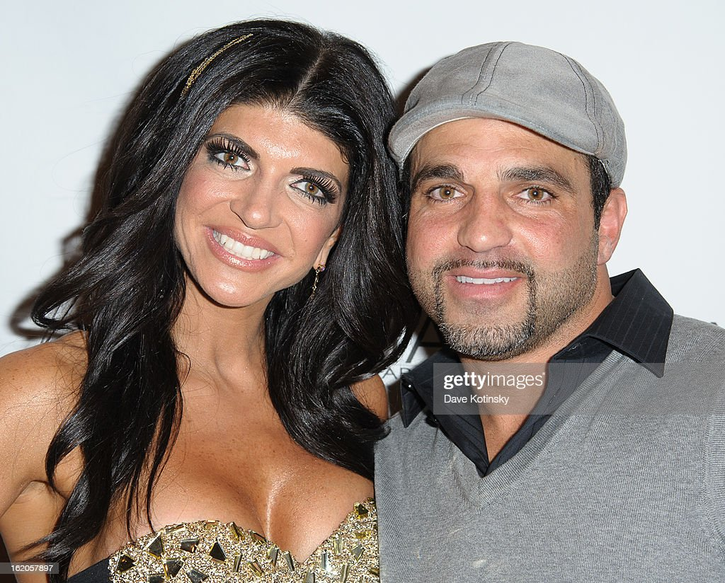 <a gi-track='captionPersonalityLinkClicked' href=/galleries/search?phrase=Teresa+Giudice&family=editorial&specificpeople=5912953 ng-click='$event.stopPropagation()'>Teresa Giudice</a> and Joe Gorga attend the Milania Professional Hair Care Launch Party at Stone House At Stirling Ridge on February 18, 2013 in Warren, New Jersey.