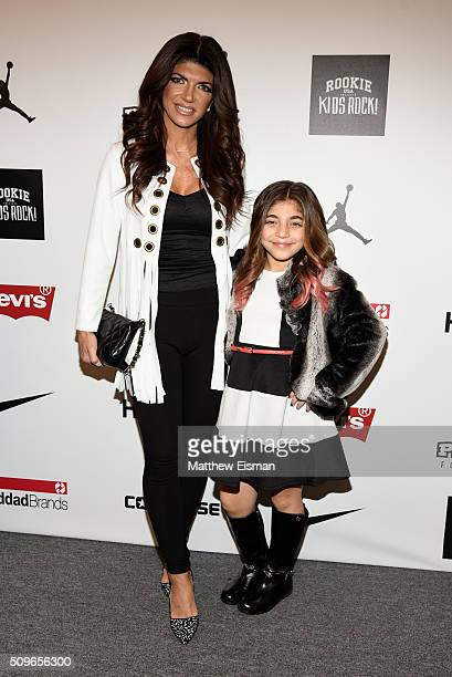 Teresa Giudice and Milania Giudice attend Rookie USA Presents Kids Rock Front Row Backstage Fall 2016 New York Fashion Week The Shows at The Dock...