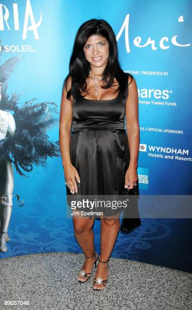 Teresa Giudice attends Cirque du Soleil's 'Alegria' at the Prudential Center on July 15 2009 in Newark New Jersey
