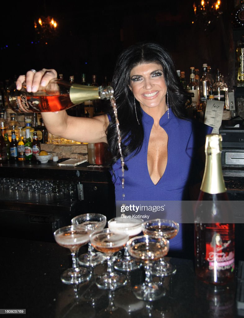 <a gi-track='captionPersonalityLinkClicked' href=/galleries/search?phrase=Teresa+Giudice&family=editorial&specificpeople=5912953 ng-click='$event.stopPropagation()'>Teresa Giudice</a> attends Cuffs By Kim D Party during Fall 2013 Fashion Week at Lair on February 7, 2013 in New York City.