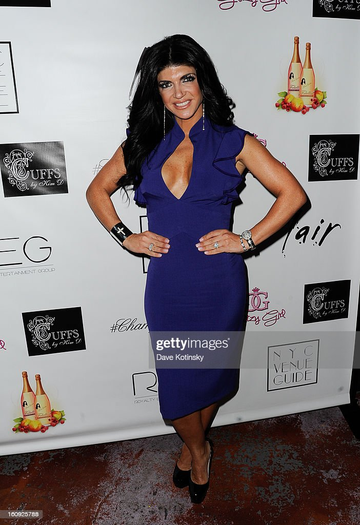Teresa Giudice attends Cuffs By Kim D Party during Fall 2013 Fashion Week at Lair on February 7, 2013 in New York City.