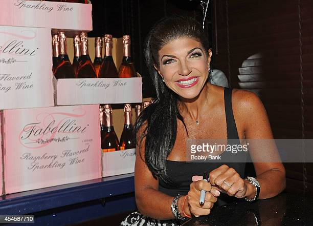 Teresa Giudice attends her Fabellini Bottle Signing at Godfather Catering on September 3 2014 in East Hanover New Jersey