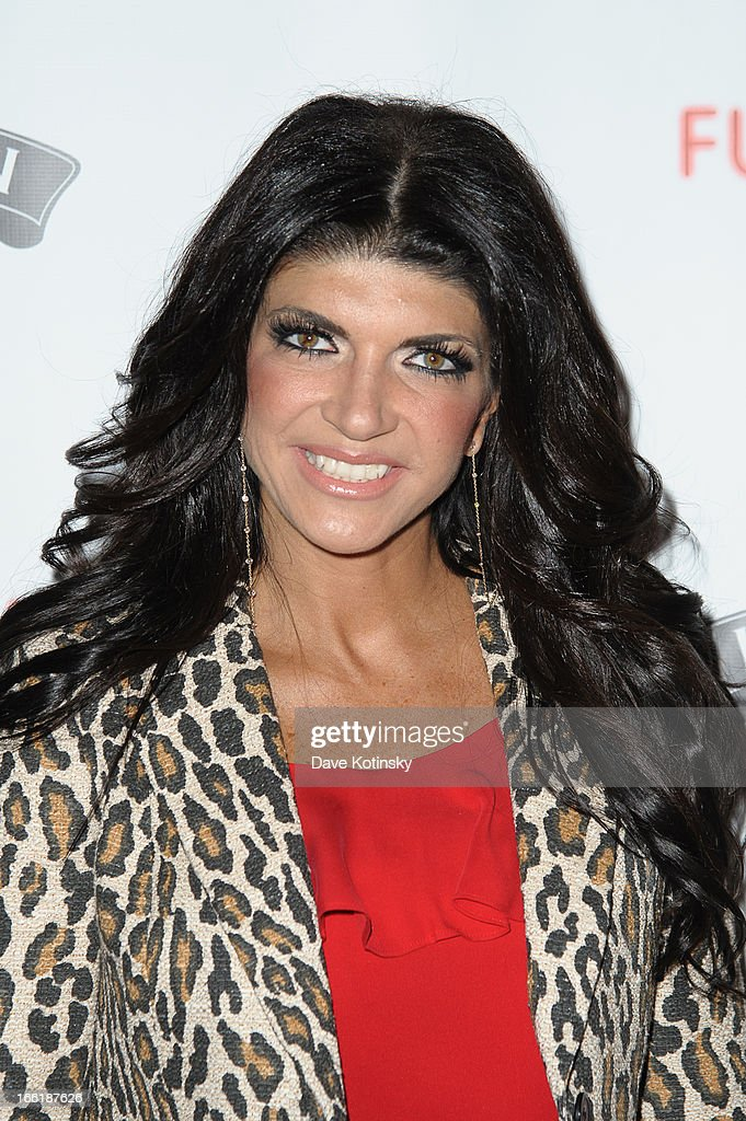 <a gi-track='captionPersonalityLinkClicked' href=/galleries/search?phrase=Teresa+Giudice&family=editorial&specificpeople=5912953 ng-click='$event.stopPropagation()'>Teresa Giudice</a> attends 'Little Town NJ' Restaurant Opening Hosted By The Manzo Brothers at Little Town NJ Restaurant on April 9, 2013 in Hoboken, New Jersey.