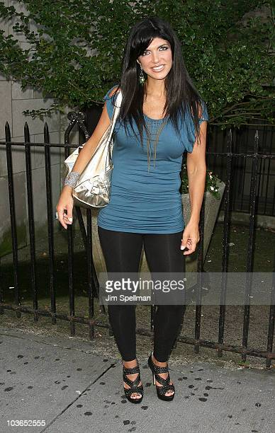 Teresa Giudice attends rehersals for 'My Big Gay Italian Wedding' at St Luke's Theater on August 26 2010 in New York City