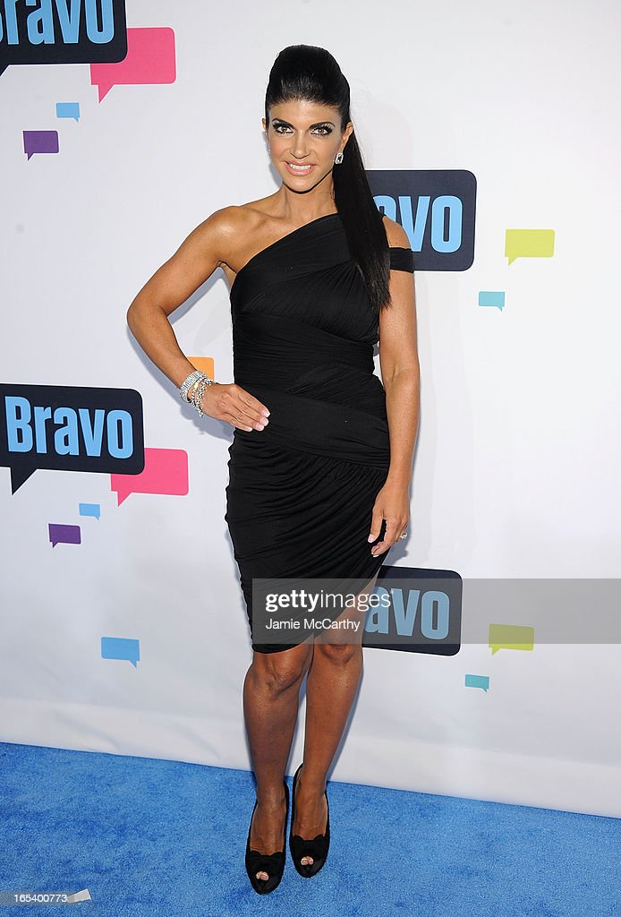 Teresa Giudice attends the 2013 Bravo New York Upfront at Pillars 37 Studios on April 3, 2013 in New York City.