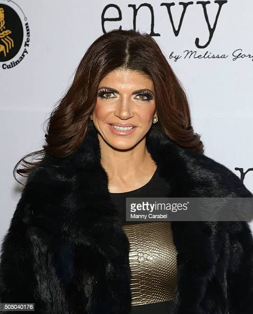 Teresa Giudice attends the Grand Opening of envy by Melissa Gorga Boutique on January 14 2016 in Montclair New Jersey