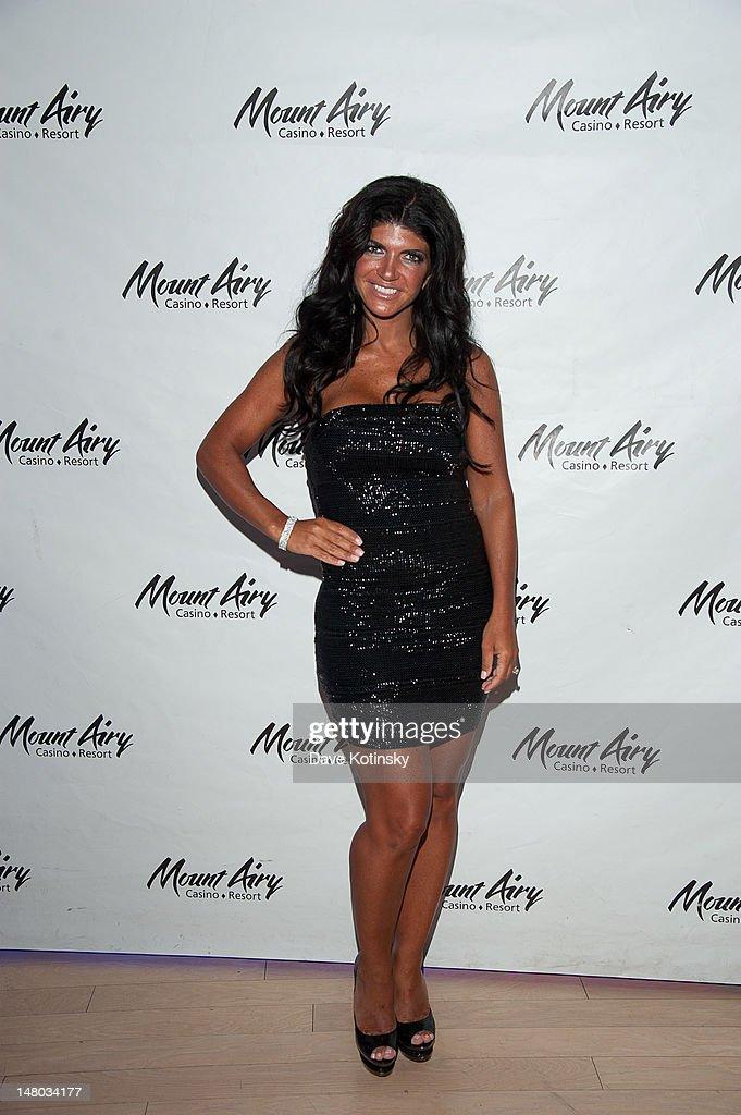 Teresa Giudice hosts a dance party in Gypsies Nightclub at Mount Airy Casino Resort on July 7 2012 in Mount Pocono Pennsylvania