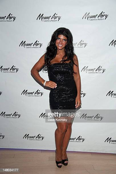 Teresa Giudice hosts a dance party in Gypsies Nightclub at Mount Airy Casino Resort on July 7 2012 in Mount Pocono Pennsylvania