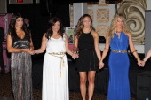 Teresa Giudice Kathy Wakile Melissa Gorga and Dina Manzo attend the 'Goddess Night Out' event benefiting Project Lady Bug hosted by Dina Manzo on...