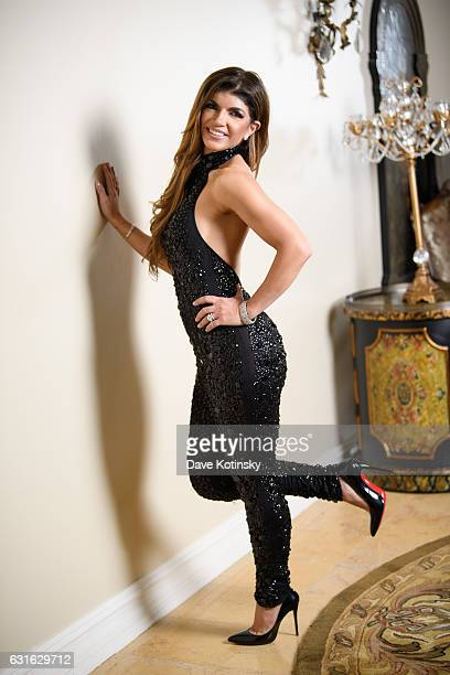 Teresa Giudice Poses For A Portrait At Her Home on January 13 2017 in Towaco New Jersey