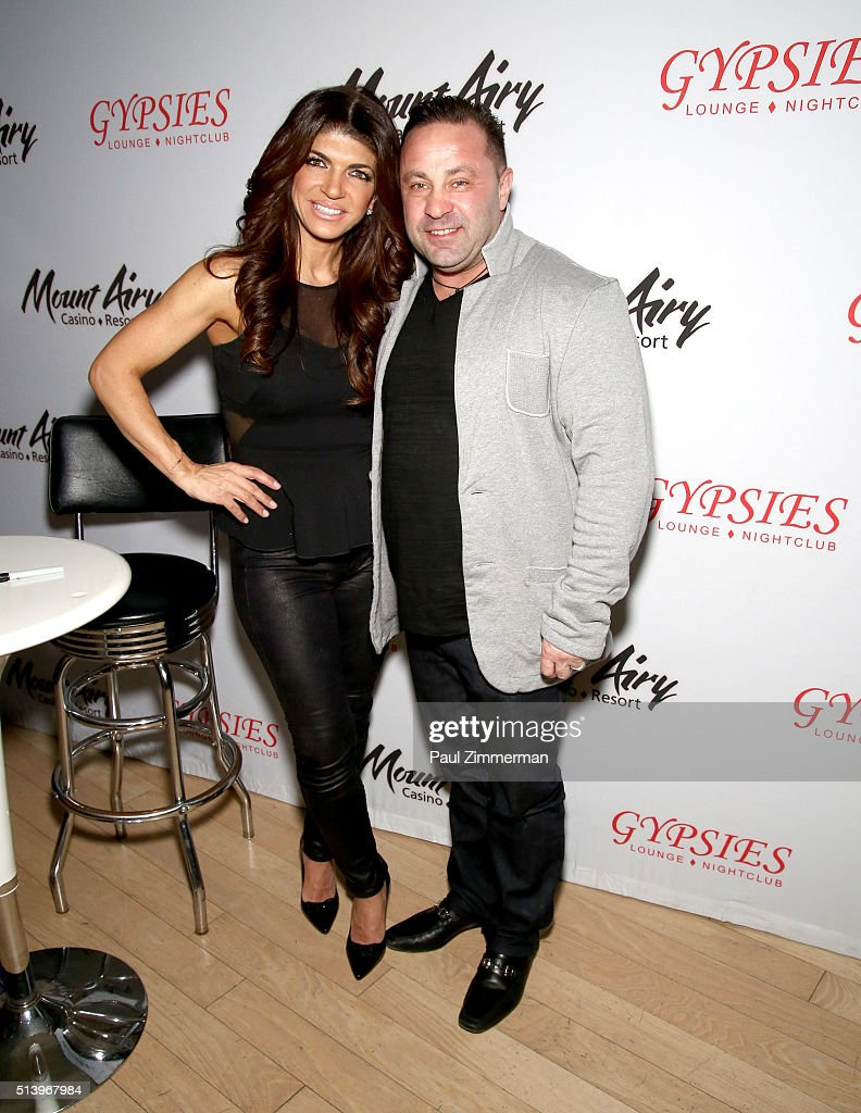 Teresa Giudice star of The Real Houswives of New Jersey and Joe Giudice appears at Mount Airy Resort Casino for a book signing and meet and greet on...