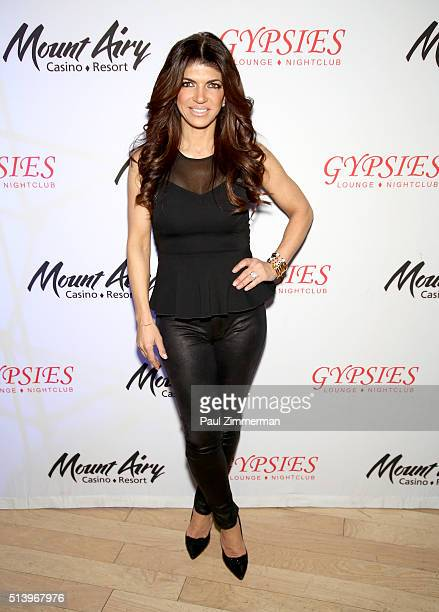 Teresa Giudice star of The Real Houswives of New Jersey appears at Mount Airy Resort Casino for a book signing and meet and greet on March 5 2016 in...