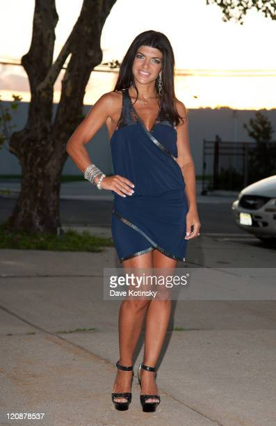 Teresa Giudice visits the Electronics Expo on August 11 2011 in Wayne New Jersey