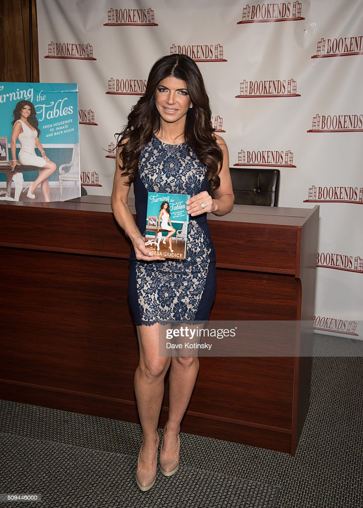 Teresa Guidice signs copies of 'Turning The Tables' at Bookends on February 10 2016 in Ridgewood New Jersey