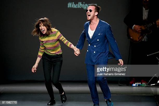 Teresa Helbig and Aldo Comas walk the runway at the Teresa Helbig show during the MercedesBenz Madrid Fashion Week Autumn/Winter 2016/2017 at Ifema...