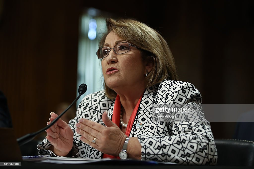 Teresa Jacobs, Mayor of Orange County, Florida, testifies during a Senate Foreign Relations Committee hearing concerning cartels and the U.S. heroin epidemic, on Capitol Hill, May 26, 2016, in Washington, DC. According to the U.S. Centers for Disease Control and Prevention, from 2002 to 2013 the rate of heroin-related deaths quadrupled in the United States, with most of the increase coming after 2010.