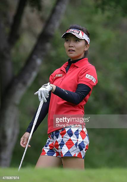 Teresa Lu of Taiwan during the first round of the Resorttrust Ladies at the Maple Point Golf Club on May 29 2015 in Yamanashi Japan