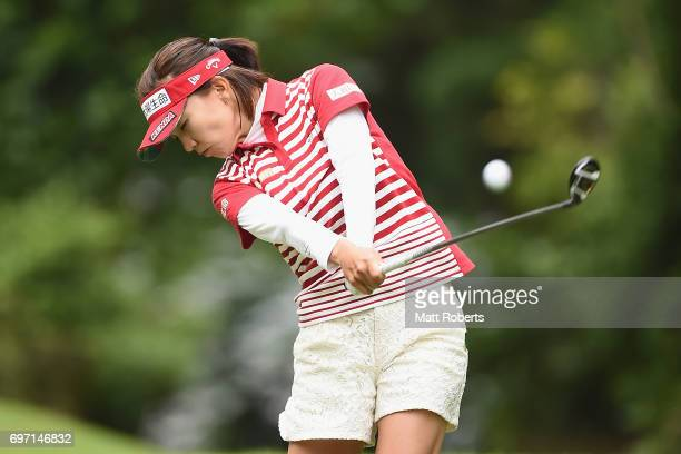 Teresa Lu of Taiwan hits her tee shot on the 2nd hole during the final round of the Nichirei Ladies at the on June 18 2017 in Chiba Japan