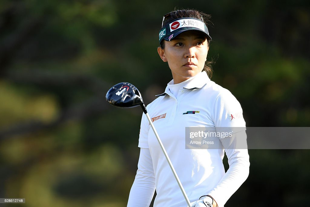 Teresa Lu of Taiwan looks on during the first round of the World Ladies Championship Salonpas Cup at the Ibaraki Golf Club on May 5, 2016 in Tsukubamirai, Japan.