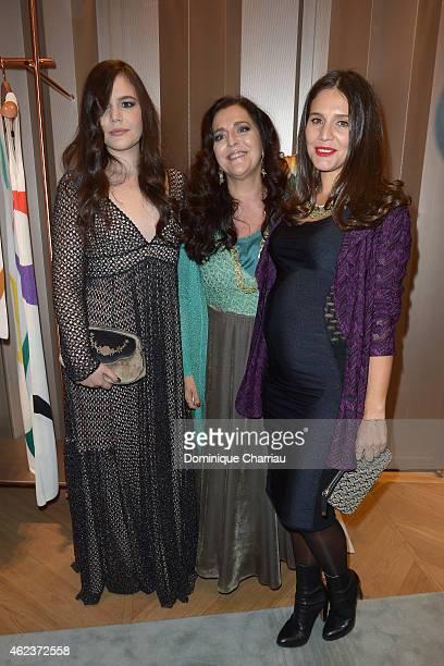 Teresa Maccapani Misssoni Angela Missoni and Margherita Maccapani Missoni attend the Missoni opening store at 219 Rue Saint Honore during the Paris...