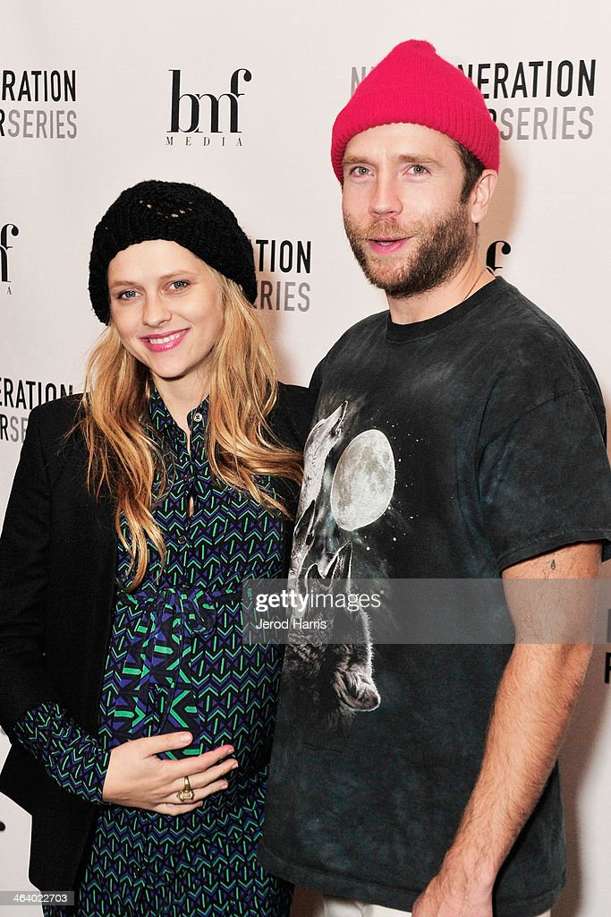 <a gi-track='captionPersonalityLinkClicked' href=/galleries/search?phrase=Teresa+Palmer&family=editorial&specificpeople=612319 ng-click='$event.stopPropagation()'>Teresa Palmer</a> and Mark Webber attend 'Happy Christmas' Premiere Party - 2014 Park City on January 19, 2014 in Park City, Utah.