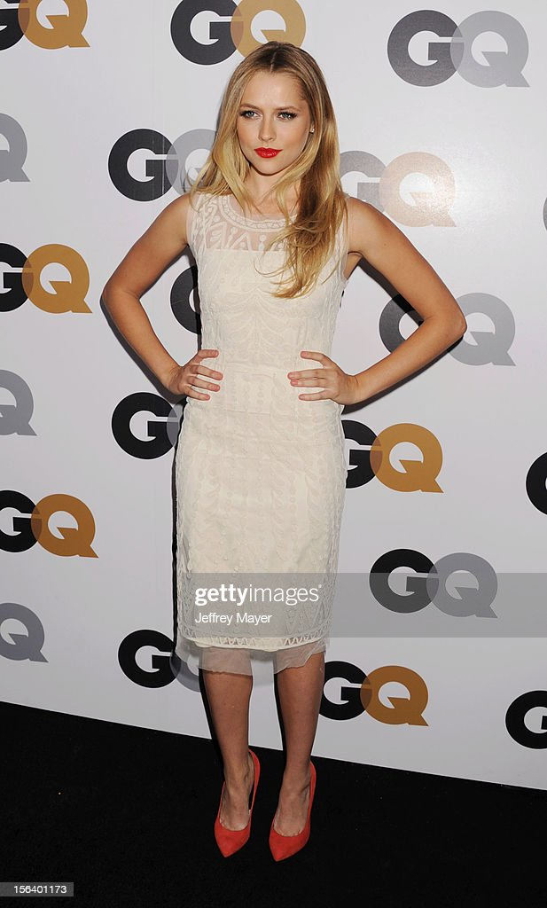 Teresa Palmer arrives at the GQ Men Of The Year Party at Chateau Marmont Hotel on November 13, 2012 in Los Angeles, California.