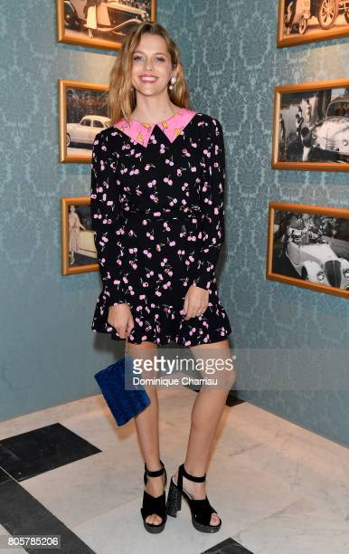 Teresa Palmer attends Miu Miu Cruise Collection show as part of Haute Couture Paris Fashion Week on July 2 2017 in Paris France