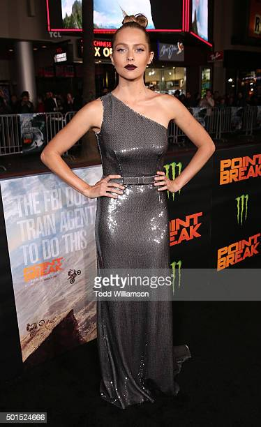 Teresa Palmer attends the premiere of Warner Bros Pictures and Alcon Entertainment's 'Point Break' at TCL Chinese Theatre on December 15 2015 in...