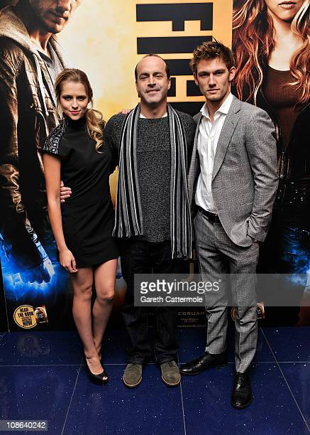 Teresa Palmer DJ Caruso and Alex Pettyfer attend a special screening of 'I Am Number Four' at The Apollo Cinema on January 31 2011 in London England