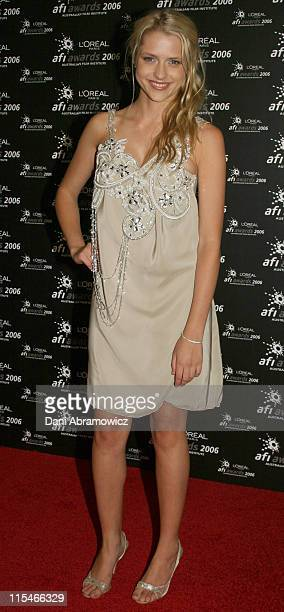 Teresa Palmer during L'Oreal Paris 2006 AFI Industry Awards at The Melbourne Convention Centre in Melbourne VIC Australia