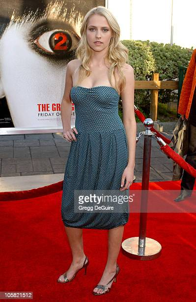 Teresa Palmer during 'The Grudge 2' Los Angeles Premiere Arrivals at Knott's Scary Farm in Buena Park California United States